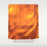 polygon Shower Curtains featuring Polygon Six by Jambot