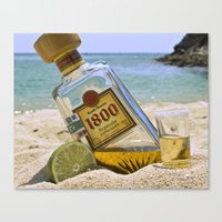 tequila Canvas Prints featuring Tequila! by Brocoli ArtPrint