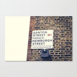 London street sign Canvas Print