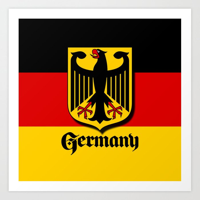 Germany Ueber Alles Country Symbol Art Print