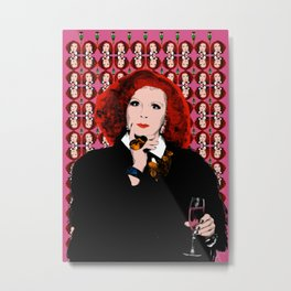 "TV Queens - Ab Fab Eddie ""Nicer Things"" Metal Print"