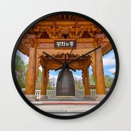 Korean Bell Building Wall Clock