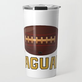 True Jaguar American Football Design black lettering Travel Mug