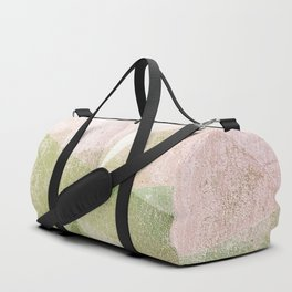 Frozen Geometry - Pink & Green Duffle Bag