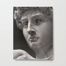 """Michelangelo """"David"""" oils Metal Print"""