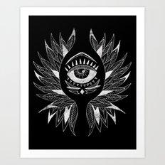 Wing & eye Art Print