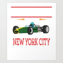 """This """"Big Race"""" tee will rush the speed out of you. Personalized colorful racer tee made for you  Art Print"""