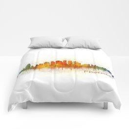 Phoenix Arizona, City Skyline Cityscape Hq v3 Comforters