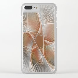 Meeting, Abstract Fractal Art Clear iPhone Case