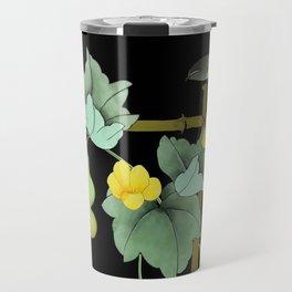 Squash Vine and Bird Travel Mug