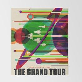 The Grand Tour NASA JPL Space Tourism Poster Kids Space Room Decor Throw Blanket