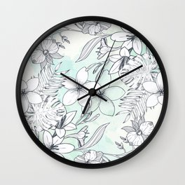Floral Sketches Wall Clock