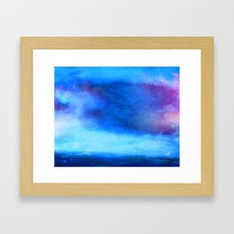 Moody blue cloud Framed Art Print