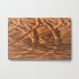Dubai Sand Tracks in Dune Metal Print