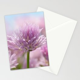 Allium pink macro 303 Stationery Cards