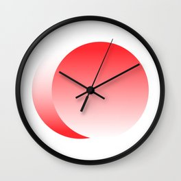 The Red Ellipse Wall Clock