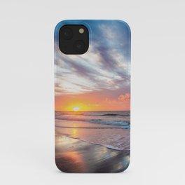 Daybreak at Hilton Head - Sunrise Along Beach at Hilton Head Island in South Carolina iPhone Case
