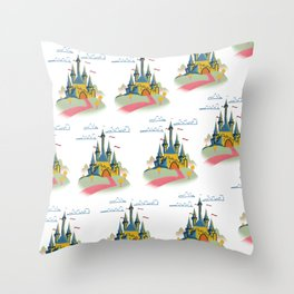 Fairytail Castle Pattern Throw Pillow