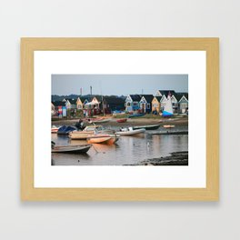 Huts in the Harbour Framed Art Print