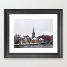 Stockholm Winter Framed Art Print