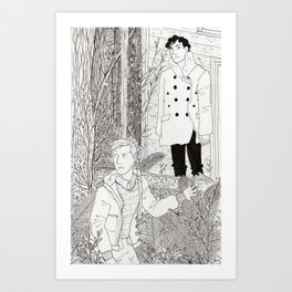 The Narcoleptic and the Pyromaniac Art Print