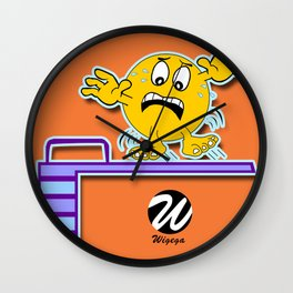 Diver Cartoon Character on Slippy Springboard Wall Clock