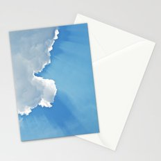 Sun rays behind Clouds Stationery Cards