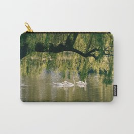 Swans on the river Carry-All Pouch