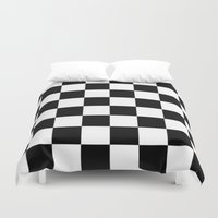 chess Duvet Covers featuring Chess by ArtSchool