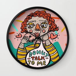 donut talk to me Wall Clock