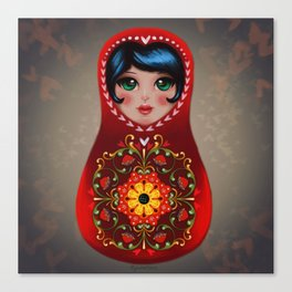 Loving Matryoshka Canvas Print