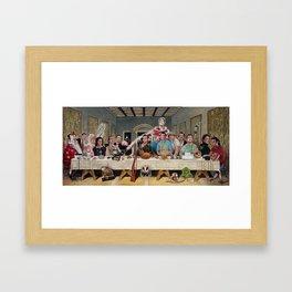 Bills Last Supper Framed Art Print