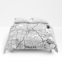 Dallas Map Gray Comforters