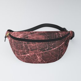 ABSTRACT RED PEAR Fanny Pack