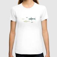 sharks T-shirts featuring Sharks! by Kinnon Elliott Illustration & Design