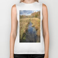 georgia Biker Tanks featuring Georgia Landscape by Rosie Brown