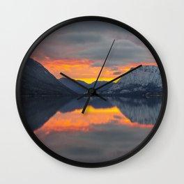 lake_sunset Wall Clock