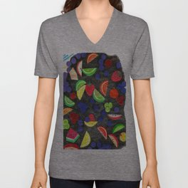 Fruit With Crosshatch Unisex V-Neck