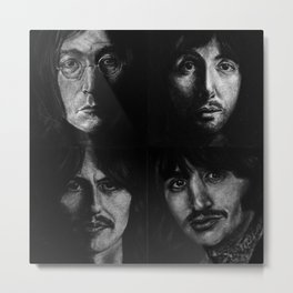 Song Writers & Musicians (Charcoal Drawing) Metal Print