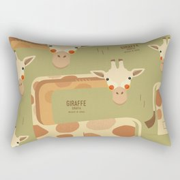 Giraffe, African Wildlife Rectangular Pillow