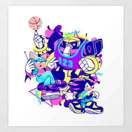 Bad Boys, Bad Boys Art Print