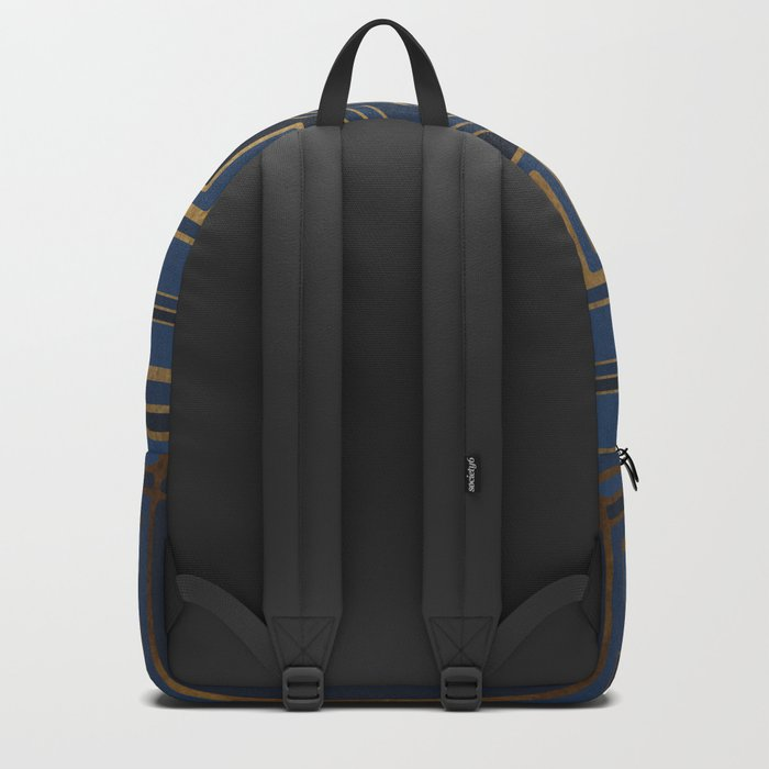 Art Deco Square Mondays In Blue Backpack
