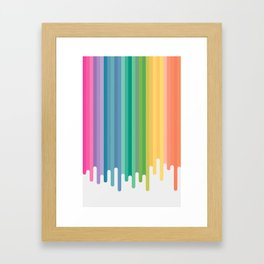 Colour Drip Framed Art Print
