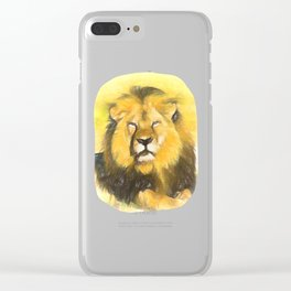 Magnificent Lion Clear iPhone Case