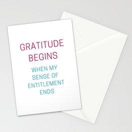 GRATITUDE BEGINS Stationery Cards