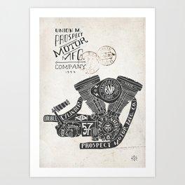 Hand lettering engine Art Print