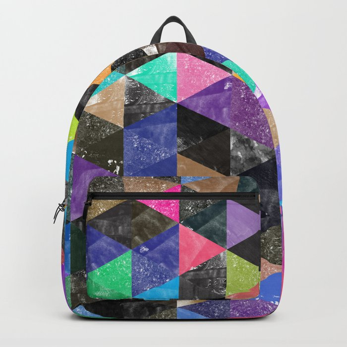 Abstract Geometric Background Backpack