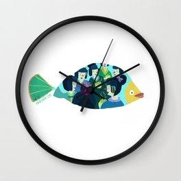 Geishas at sea Wall Clock
