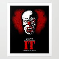 pennywise Art Prints featuring Pennywise by Beery Method