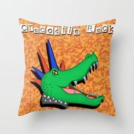 Crocodile Rock Throw Pillow